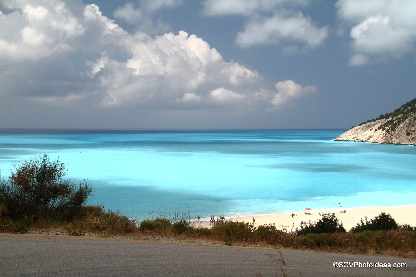 Myrtos Beach, Cephalonia turquoise waters