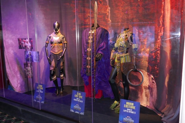 Black Panther movie costume exhibit El Capitan Theatre