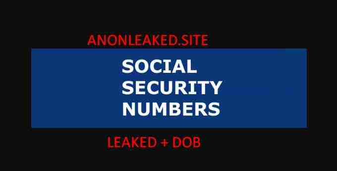 Free Fullz SSN + DOB Leaked Info Social Security Numbers