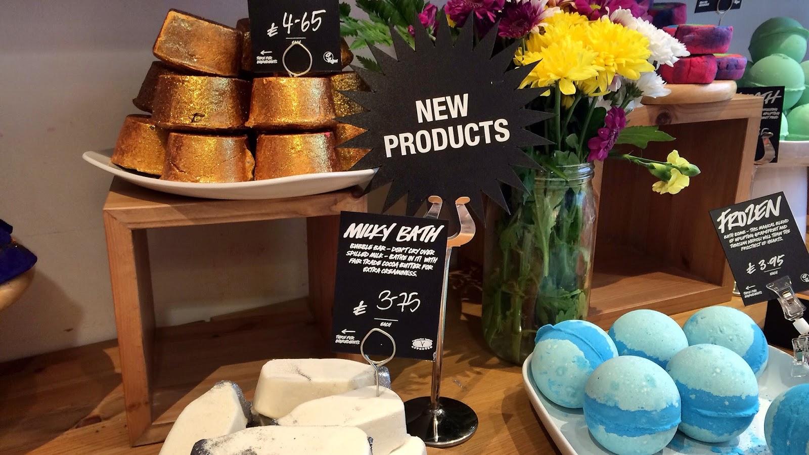 Lush Leicester bath natural organic fair trade frozen bath bomb