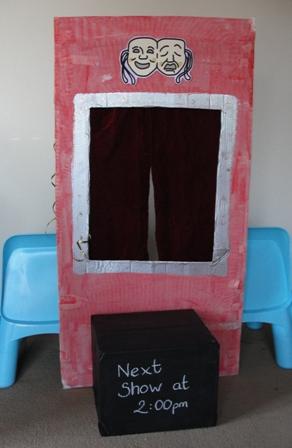Sun Hats   Wellie Boots  When is a box not a box... when it s a Puppet  Theatre! ff2e94dfd5e4