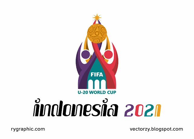 Logo Piala Dunia FIFA U-20 2020 Indonesia Vektor