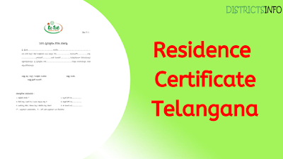 How to Apply For Residence Certificate in Telangana