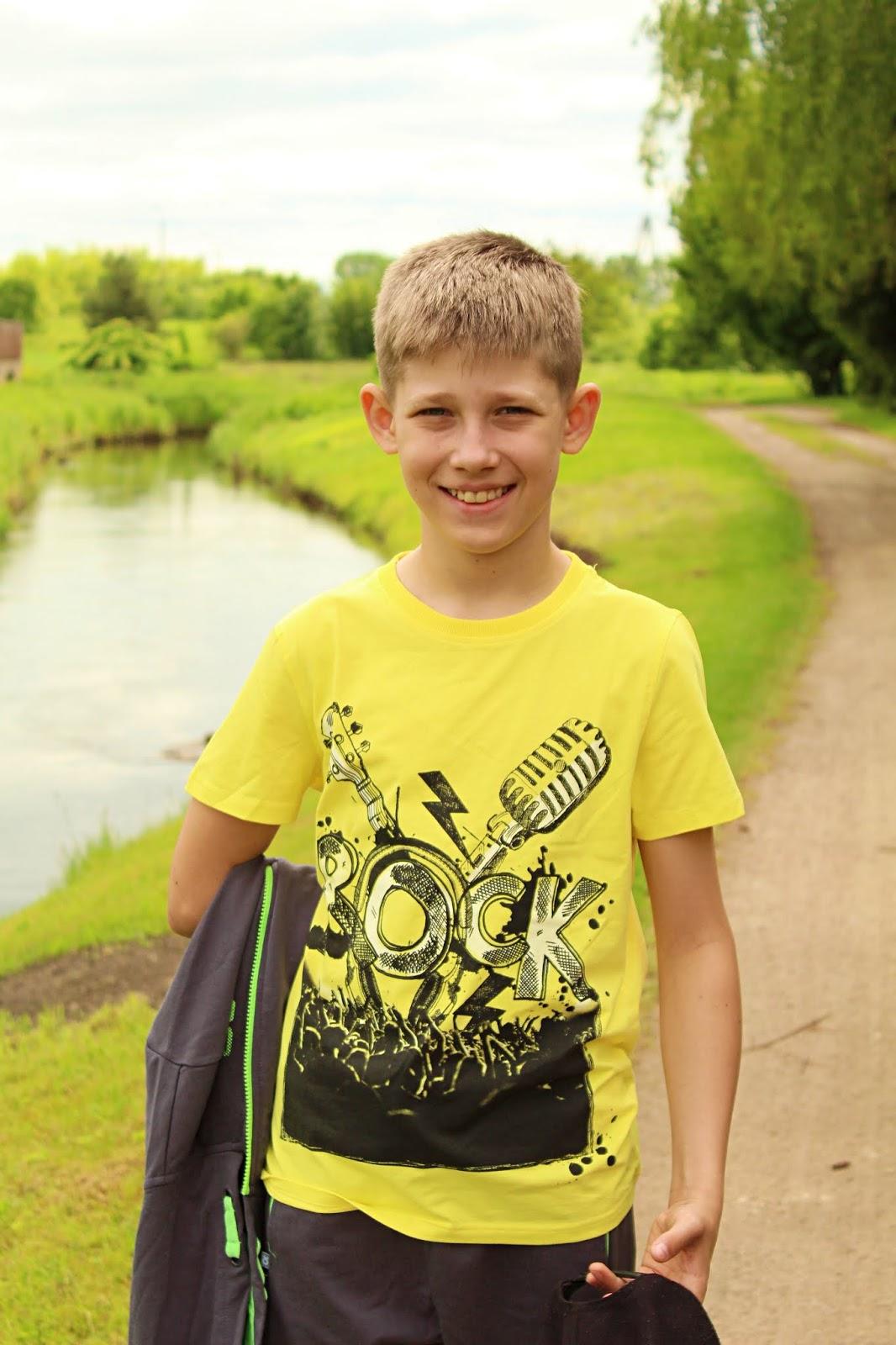 bluzka z printem dla chłopca