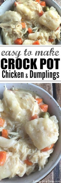 Easy To Make Crock Pot Chicken And Dumplings