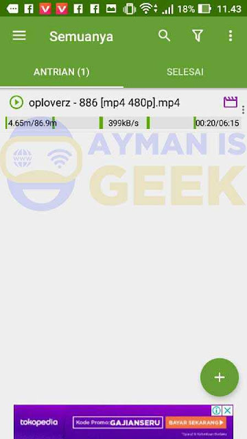 Hasil Download Advanced Download Manager