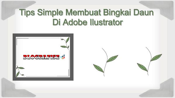 cara membuat daun di adobe illustrator