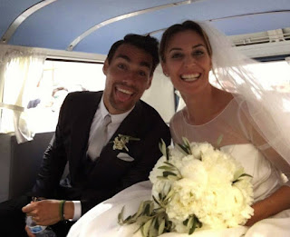 Fabia with his new wife,Flavia.