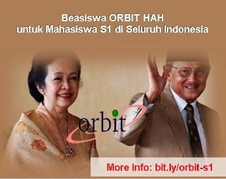 beasiswa orbit ainun habibie hah untuk mahasiswa s1