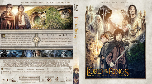 The Lord of the Rings: The Fellowship of the Ring Bluray Cover