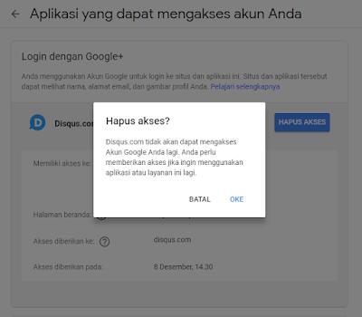 Hapus aplikasi pihak ketiga di akun google