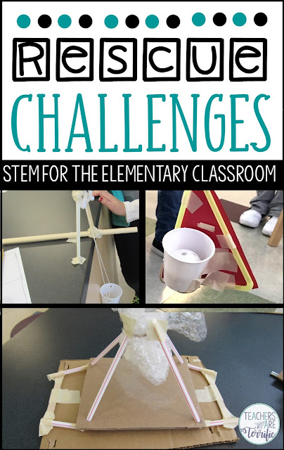 Rescue STEM Challenges- this money-saving bundle includes Cranking Devices, Cargo Drops, and Crossing a Chasm.