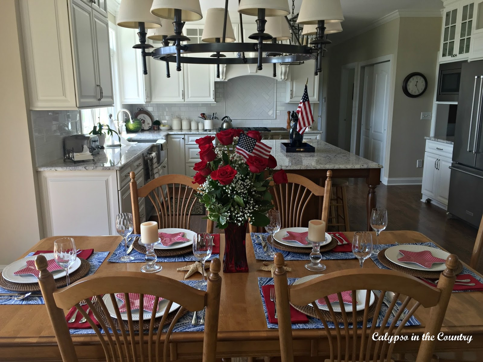 Patriotic kitchen - Red White And Blue In The Kitchen