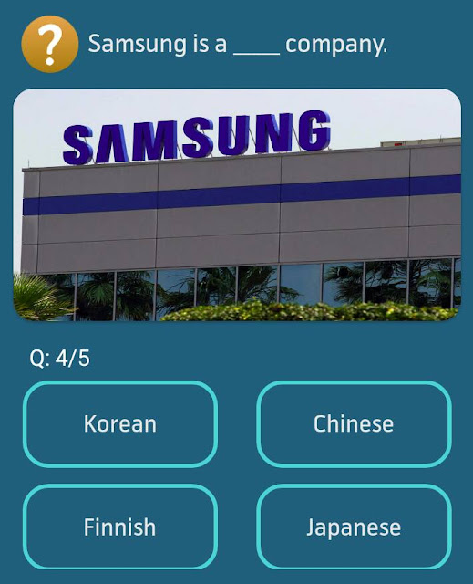 Samsung is a __ company.