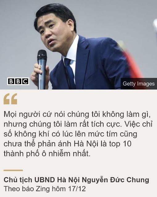 Chủ tịch Hà Nội: 'Khẳng định Hà Nội là thành phố ô nhiễm nhất cũng chưa có cơ sở khoa học'