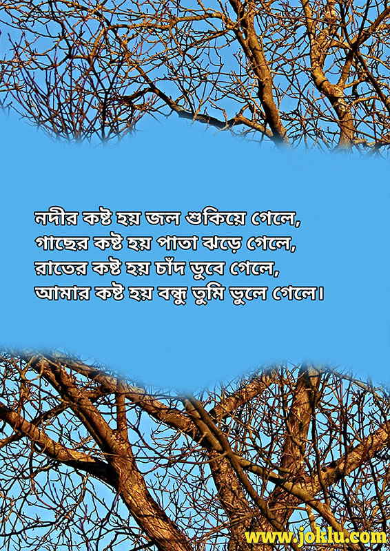 River without water friendship message in Bengali