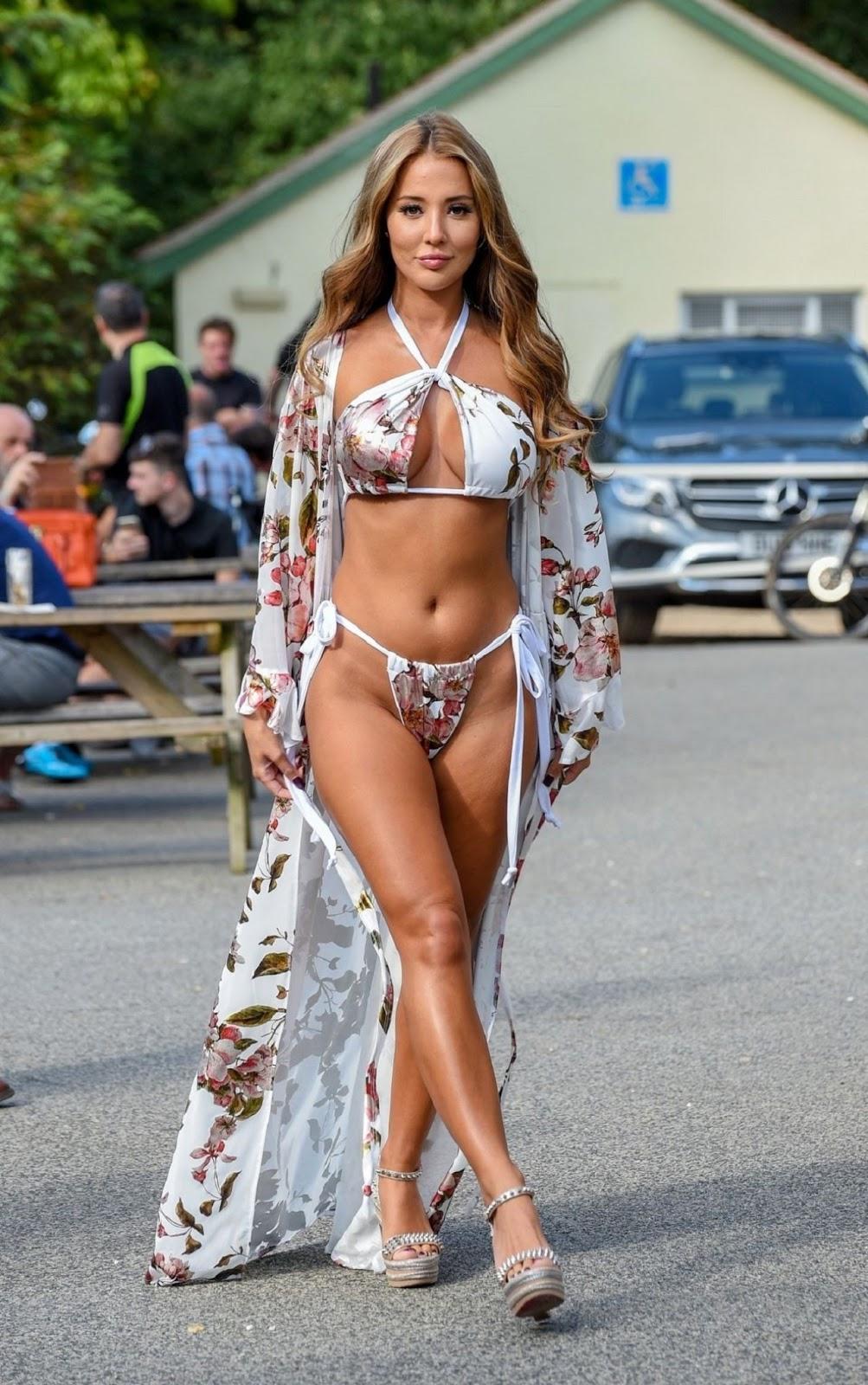 Amy Acker Bikini yazmin oukhellou in a bikini at a pool party in essex 08/22/2019