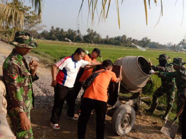 Kokohnya Kebersamaan TNI dan Polri Pada TMMD Reg 105 Kodim Klaten