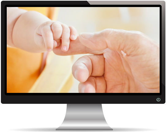 Lien Papa et Bébé - Fond d'Écran en Quad HD 1440p
