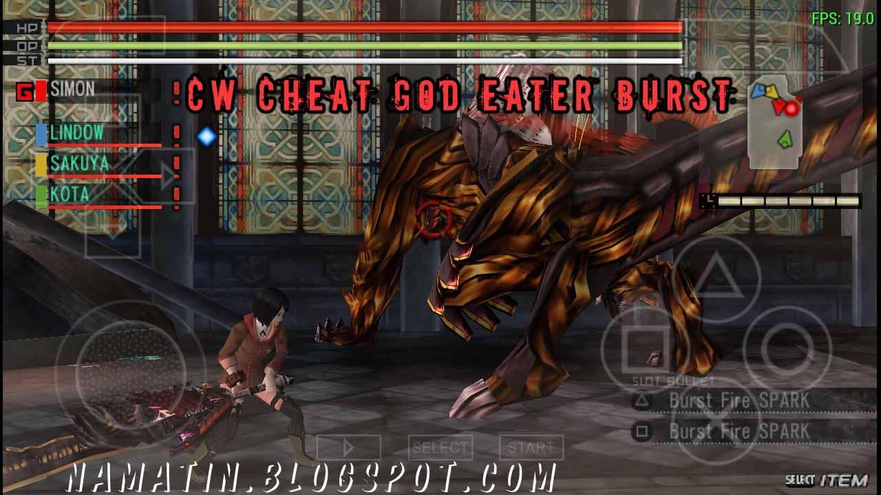 Cwcheat god eater burst download