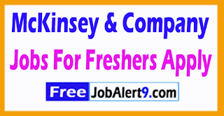 McKinsey & Company Recruitment 2017 Jobs For Freshers Apply