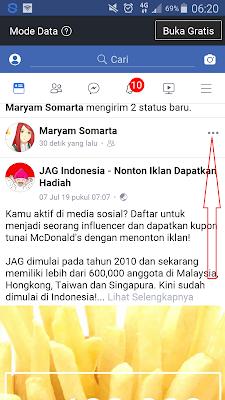 copy tautan postingan facebook