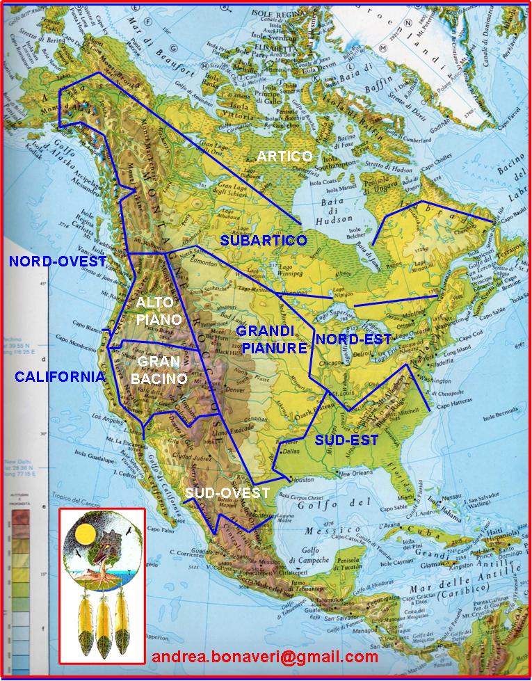 Cartina India Nord.Pietreterra Culture E Aree Culturali Dei Nativi Nord Americani Gli Indiani D America