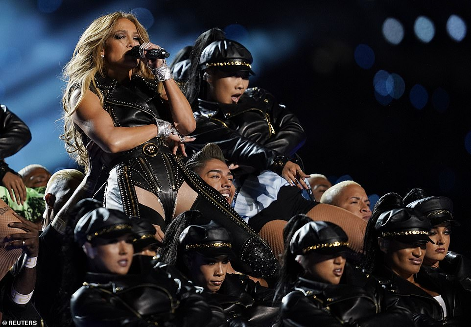Jennifer Lopez wears a selection of sultry next to nothing costumes for her Super Bowl Half Time Show