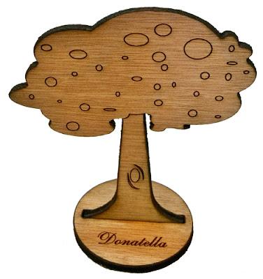 segnatavolo legno matrimonio