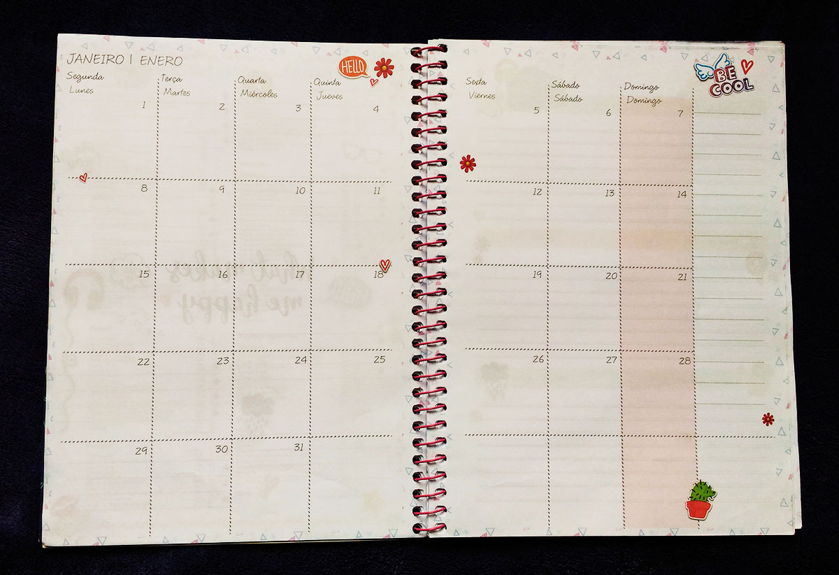 Planner para imprimir 2018