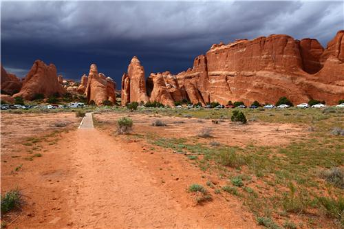 Devils Garden Trailhead at Arches National Park