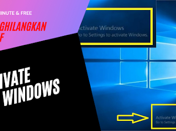 Cara Aktivasi Windows non-Ori, Menghilangkan Activate Windows