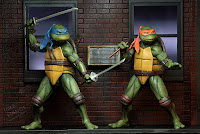 SDCC 2018 NECA Teenage Mutant Ninja Turtles Movie Street Scene Diorama and Action Figure Set