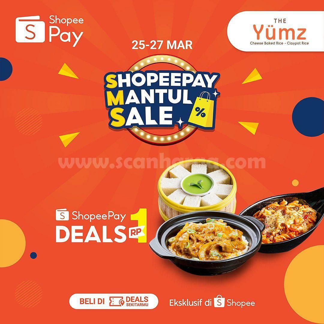 Promo The Yumz ShopeePay Mantul Sale! Beli Voucher Cashback 100% hanya Rp 1,-