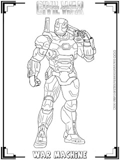 war machine captain america civil war coloring pages