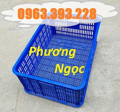 Sóng nhựa hở HS014, sọt nhựa rỗng công nghiệp, sọt nhựa đựng hàng hóa SR253