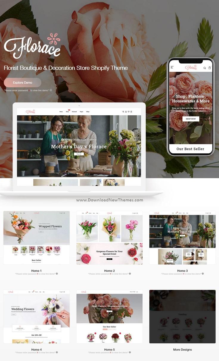 Florist Boutique & Decoration Store Shopify Theme
