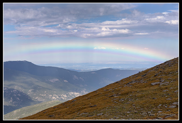 A Rainbow At Mount Evans