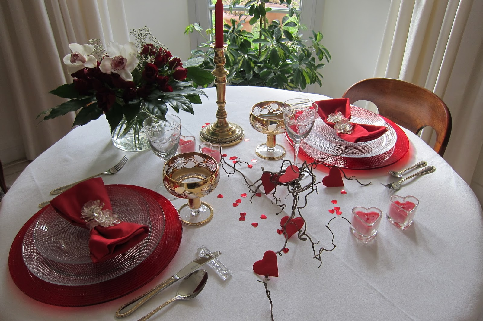 Deco saint valentin table for Table romantique