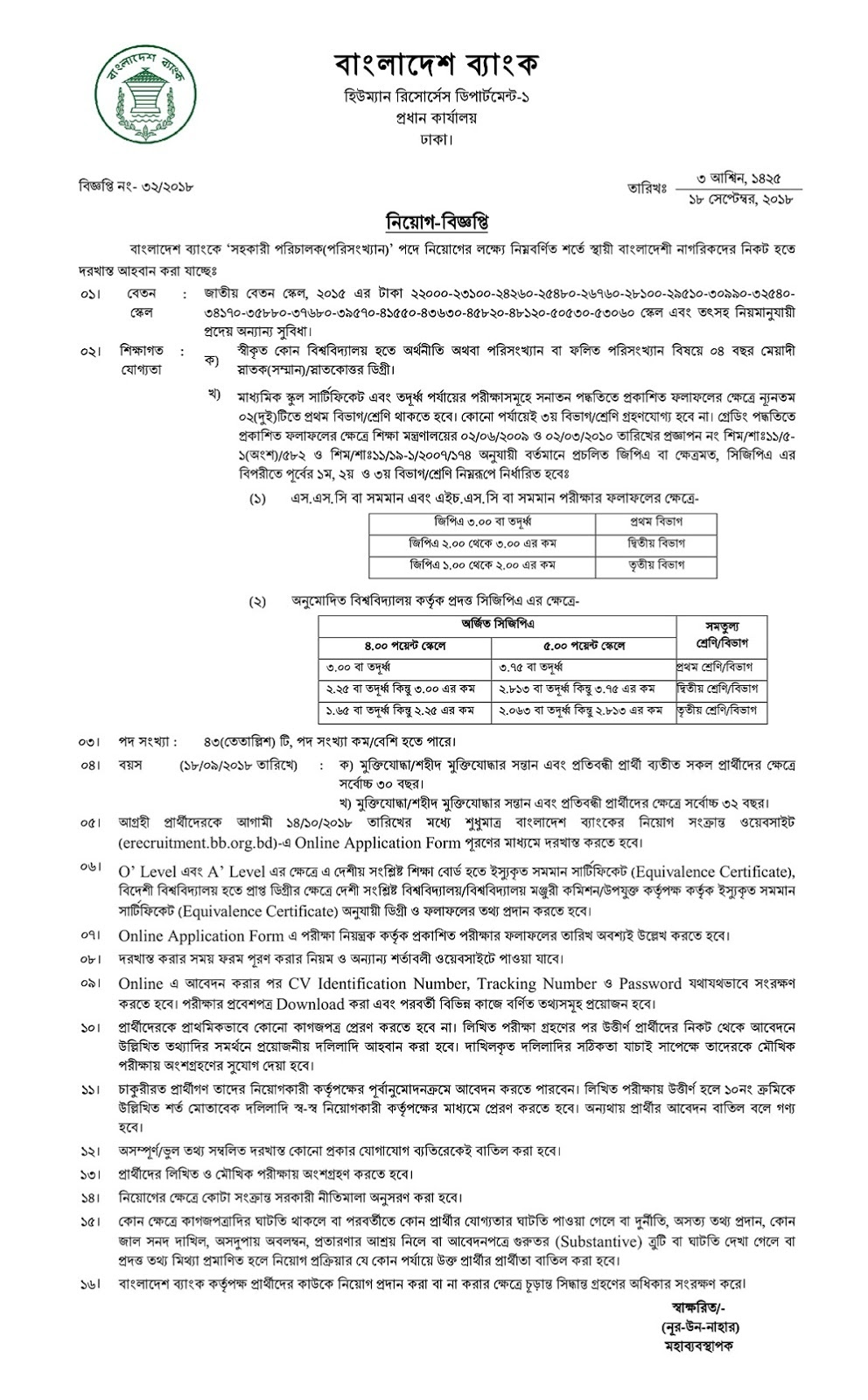 Bangladesh Govt Sonali Bank limited Jobs Circular Online Apply Now 2018