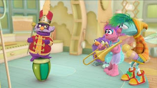 Abby's Flying Fairy School Fairy Face the Music, Morty the Musical Muse, Abby Cadabby, Blögg, Gonnigan. Sesame Street Episode 4420, Three Cheers for Us, Season 44