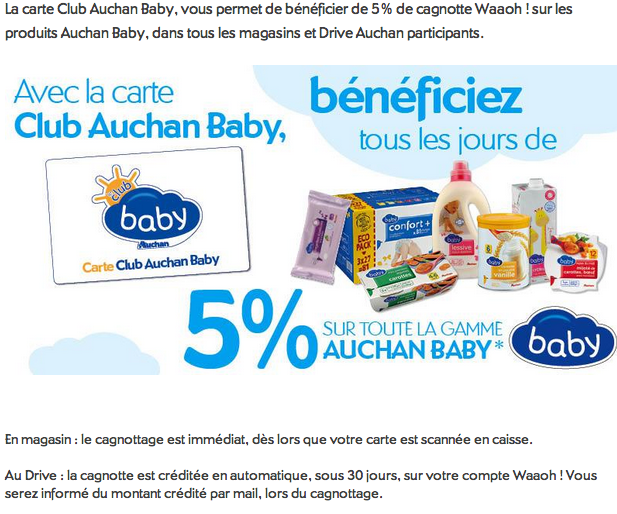 Carte Auchan Baby.La Vie Ordinaire D Une Bretonne Bon Plan Club Baby Auchan