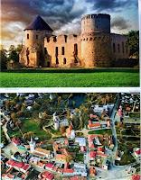 Kieś - ruiny zamku i panorama