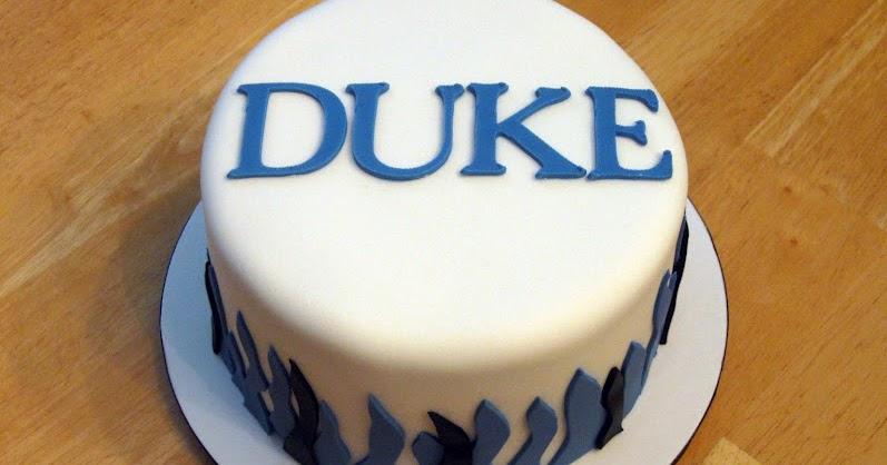 Duke Blue Devil Birthday Cake