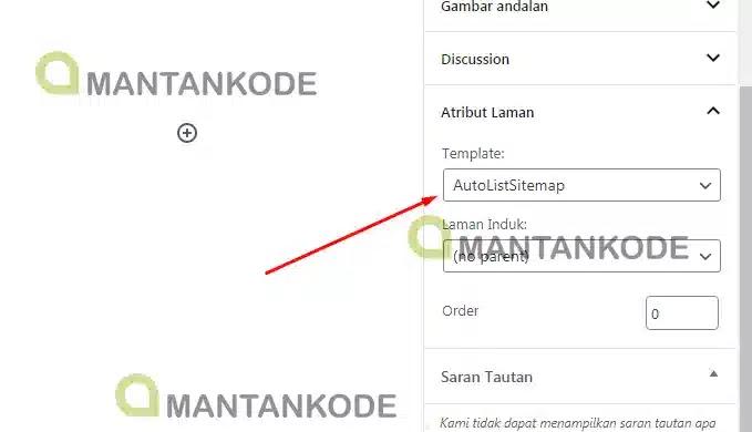 Cara Membuat sitemap otomatis di WordPress 03 Pilih Attribut Laman - mantankode copy