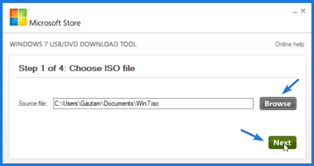 Choose Windows 7 ISO File