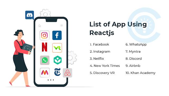List of App Using Reactjs