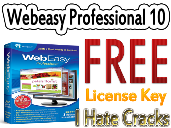 get webeasy professional 10 license key for free official