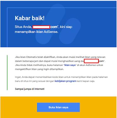 Usia blog belum 1 bulan sudah diterima oleh google adsense || Fakta