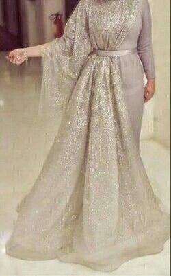 فستان سوارية مميز للمحجبات